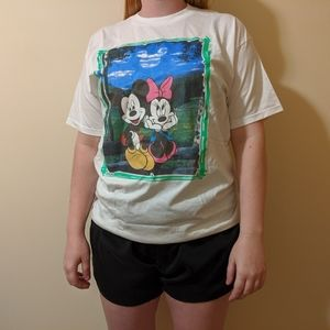 Mickey and Minnie Painting T-shirt